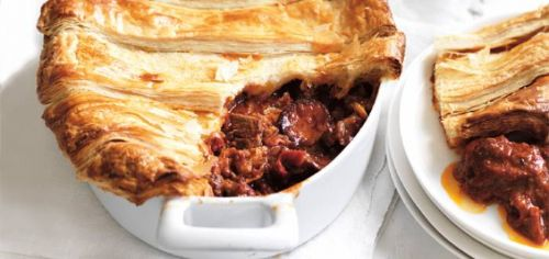 Beef & Chorizo Pie served with Creamed Corn