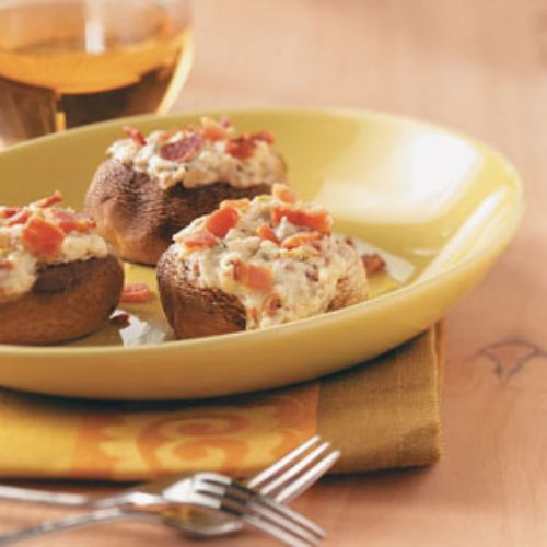 Mushrooms -Blue Cheese and Bacon Stuffed Mushrooms