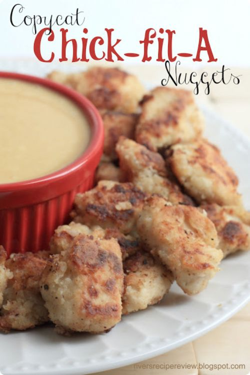 Copycat Chick-fil-A Nuggets and Chick-fil-A sauce