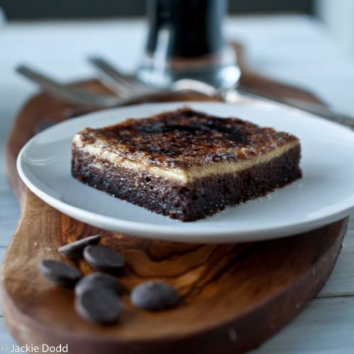 Creme Brulee Topped Chocolate Stout Brownies