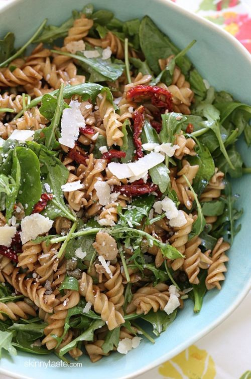Summer Pasta Salad w/ Baby Greens