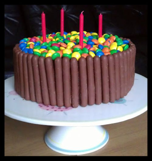 chocolate fingers birthday cake