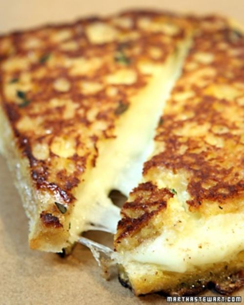 Garlic Bread Mozzarella Grilled Cheese