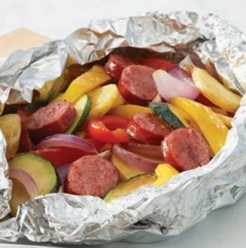 Sausage and Veggie Pouch