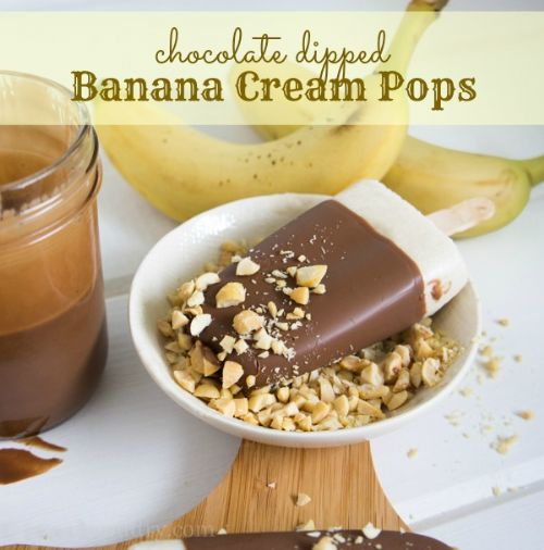 Chocolate Dipped Banana Cream Pops