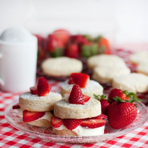 Strawberry Shortcakes w/ Lemon Cream Filling
