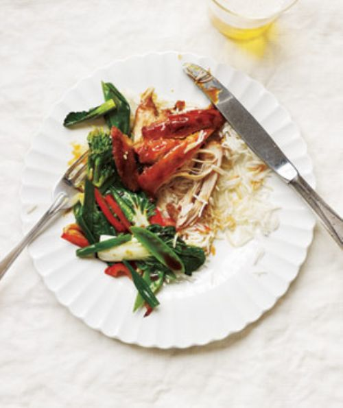 Soy-Glazed Chicken With Stir-Fried Vegetables