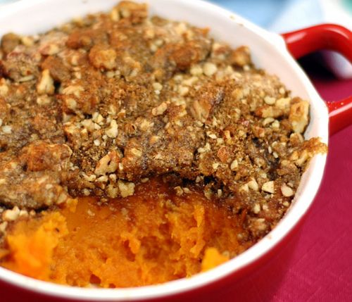Sweet Potatoes Pecan Topped