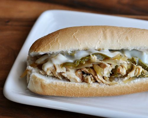 Slow Cooker Chicken Philly Sandwhich