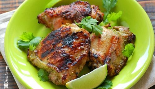 Coconut Cilantro Grilled Chicken