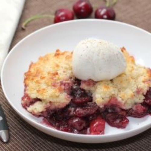 Brandied Cherry Cobbler