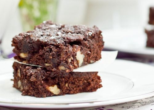 Oil-Free Walnut Chip Brownies