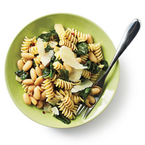 Rotini with white beans
