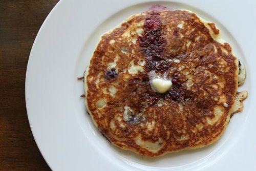 Blueberry Quinoa Pancakes