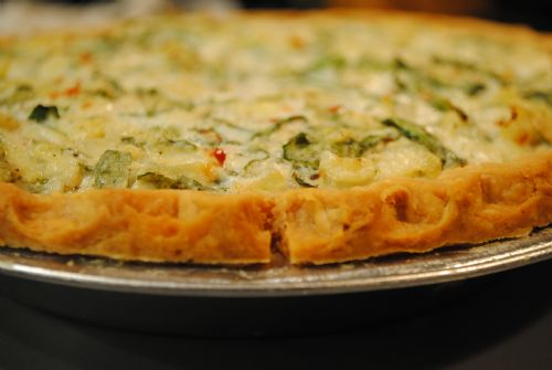 Tofu Spinach Quiche