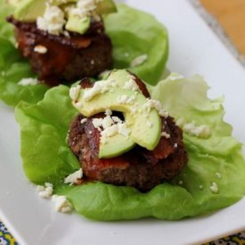 Lettuce-Wrapped Sliders with Bacon, Avocado