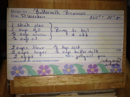Buttermilk Brownies