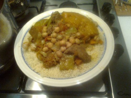 Couscous with a Lamb,Veg & Chickpea Stew