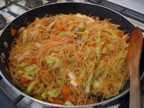 Filipino Pancit Recipe (Stir-fried Bihon noodles) Recipe