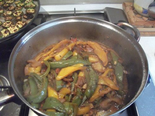 Fried Mixed Peppers