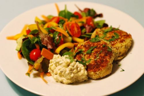 Chickpea Patties Paneed
