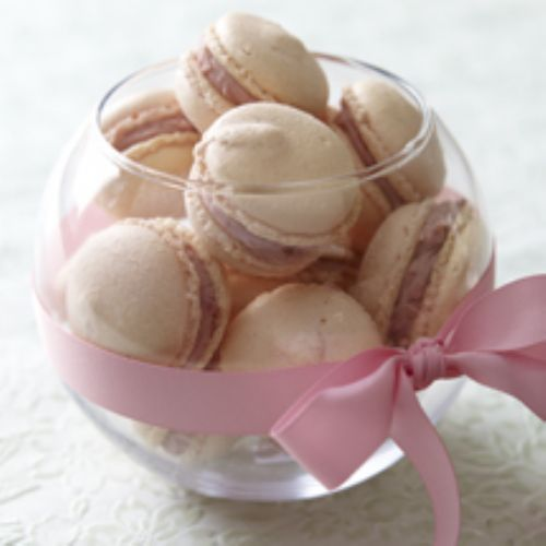 Raspberry and White Chocolate Macaroons
