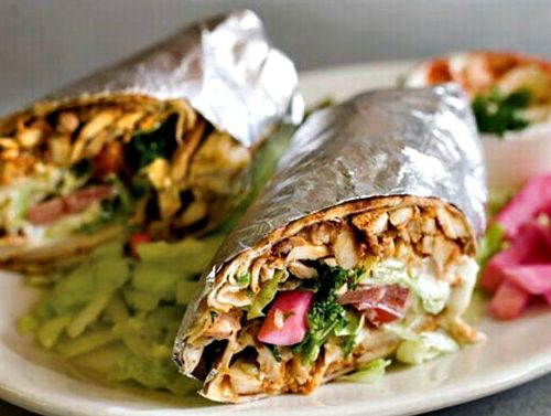 Shwarma Chicken Wrap