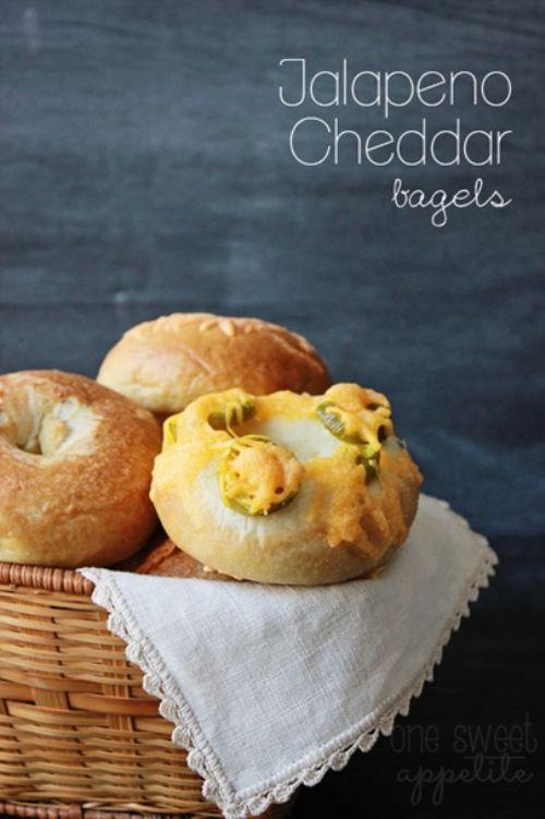 Jalapeno Cheddar Bagels Recipe