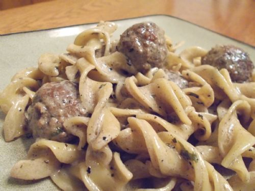 Crock Pot Meatball Stroganoff Recipe