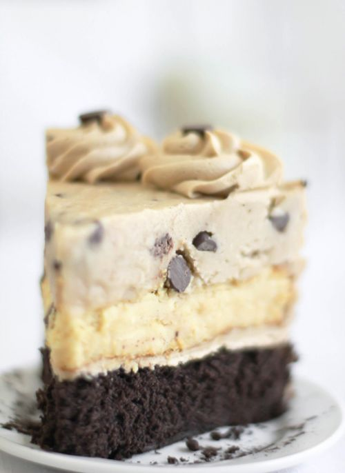 Chocolate Chip Cookie Dough Devil's Food Cake Chee