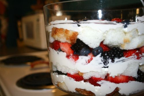 4th of july fruit Trifle