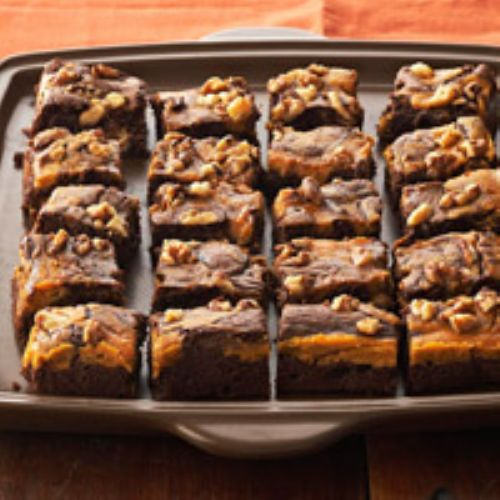 Brownies - Marbled Chocolate-Pumpkin Brownies