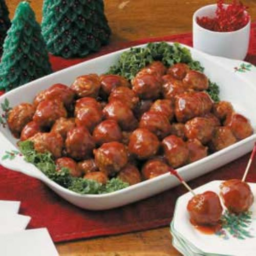 Honey-Garlic Glazed Meatballs