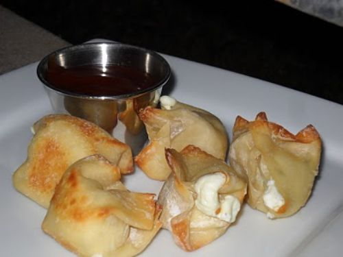 Baked Cream Cheese Won Tons