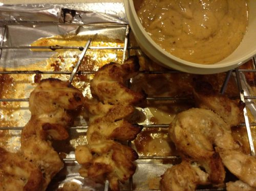 Chicken- Peanut on Skewers