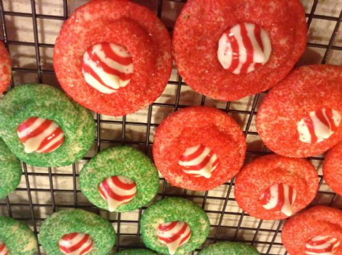 Xmas Cookies- Candy Cane Blossoms