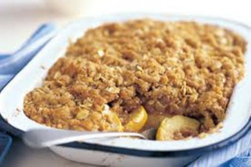 Microwave Fruit Crumble