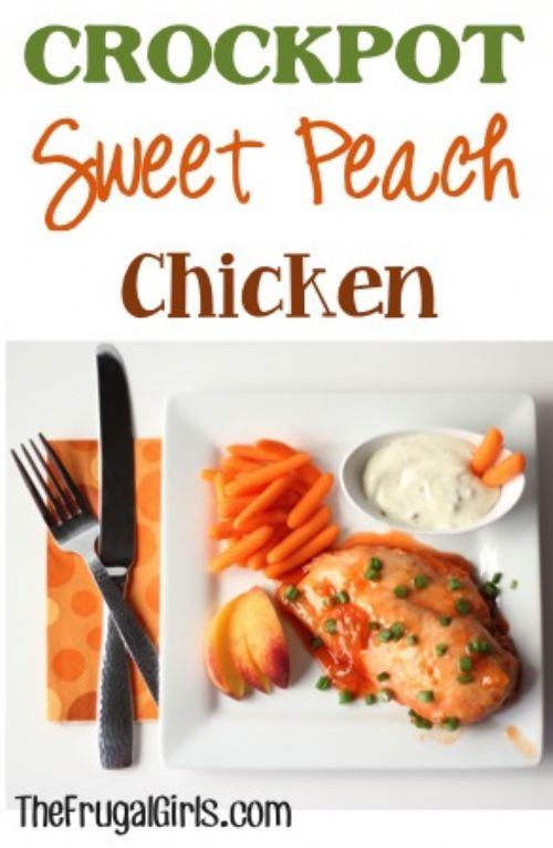 Crockpot Sweet Peach Chicken
