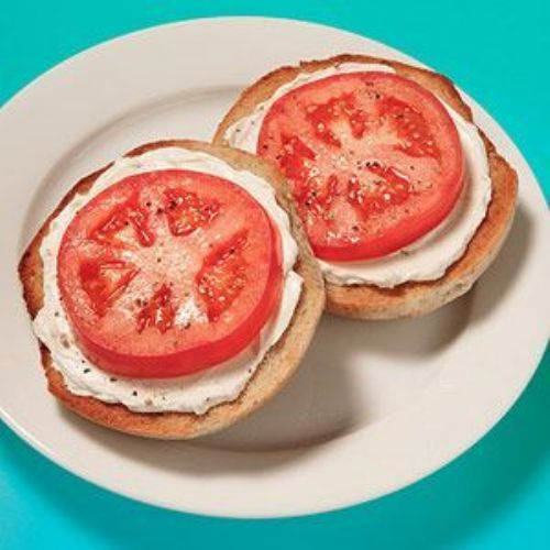 Bagel & Cream Cheese with Tomato