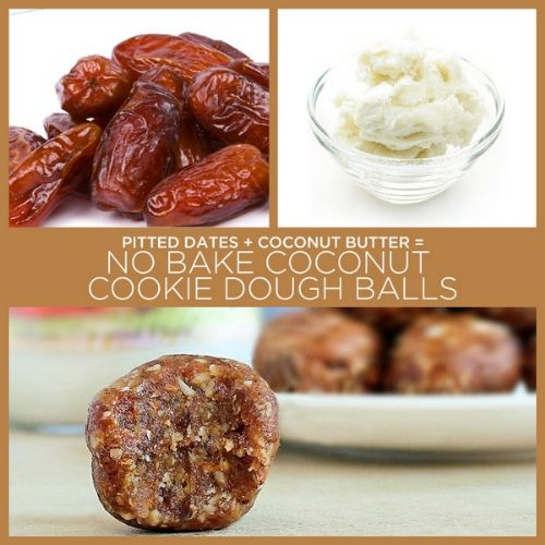 No Bake Coconut Cookie Dough Balls