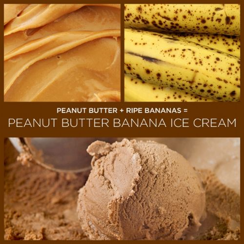 Peanut butter banana ice cream