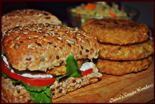 Chickpea & Cauliflower Burgers