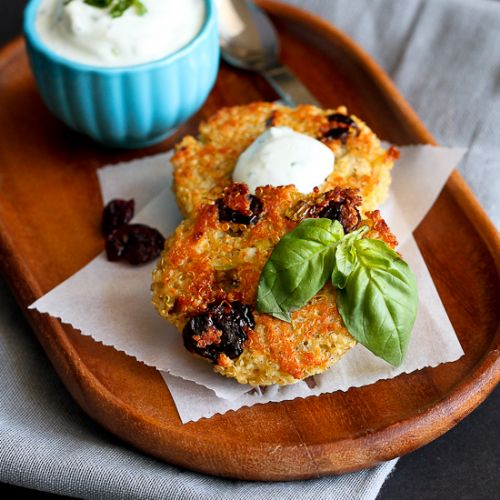 Baked Quinoa Cakes with Tart Cherries & Pistachios