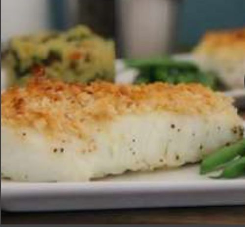 White fish with lemon dill stuffing