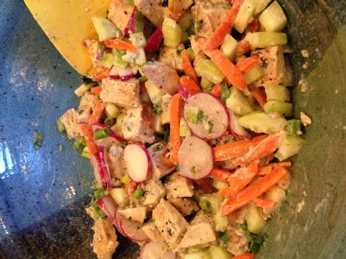 Chicken Salad- Carrot and Cucumber