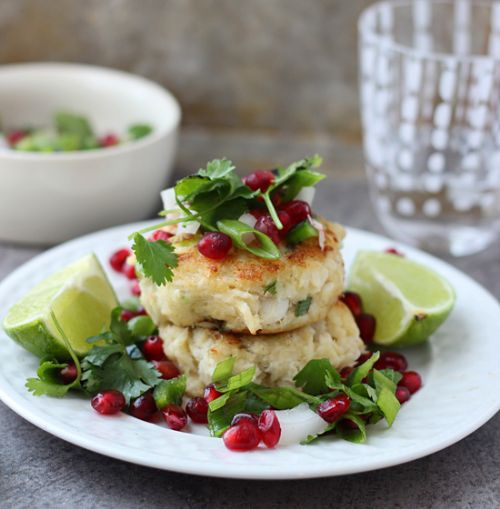 Crispy Crab Cakes with Pomegranate Salsa