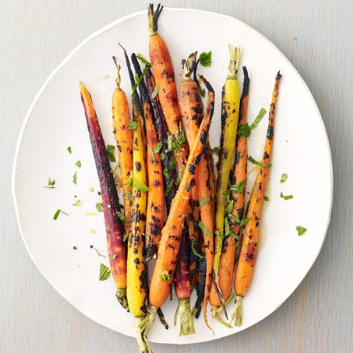 Grilled Carrots with Lemon and Mint