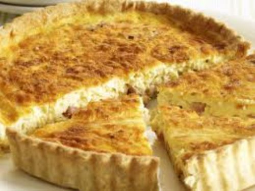 Easiest Bacon Cheese Quiche EVER!