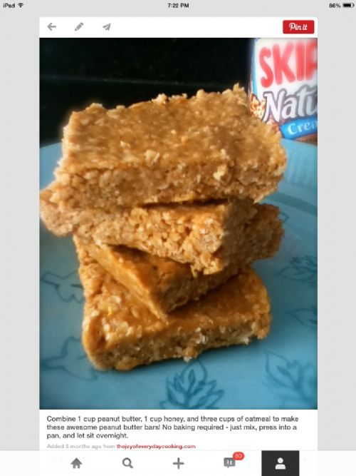 (WOOD) Peanut Butter Bars