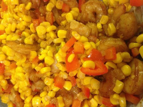 Shrimp- 3-Chile-Dusted w/Quick Corn Relish